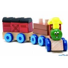 Vlak skládací - Mašinka s dvěma vagóny (Woody)