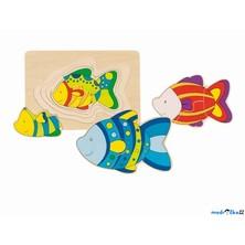 Puzzle vícevrstvé - Ryba, 4 vrstvy (Goki)