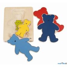 Puzzle vícevrstvé - Medvěd, 5 vrstev (Goki)