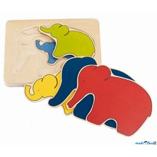 Puzzle vícevrstvé - Slon, 5 vrstev (Goki)