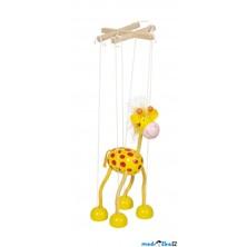Loutka marioneta - Žlutá žirafa (Goki)