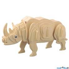 3D Puzzle přírodní - Nosorožec