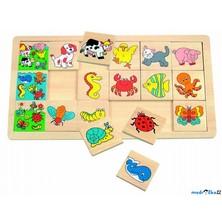 Puzzle výukové - Co kam patří, Zvířata, 18ks (Woody)
