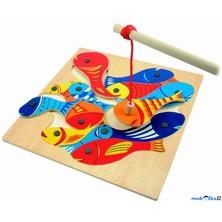 Magnetický rybolov - Puzzle na desce (Woody)