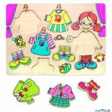 Puzzle oblékání na desce - Šatní skříň holka, 8ks (Woto)