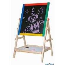 Kreslící tabule - Oboustranná magnet - křída, 65cm (Woody)