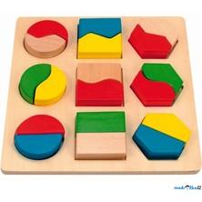 Vkládačka - Geometrickými tvary půlené větší (Woody)