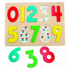 Puzzle na desce - Číslice (Woody)