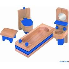 Nábytek pro panenky - Koupelna modrá (Woody)