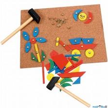 Hra s kladívkem - Deska s přibíjecími tvary (Woody)