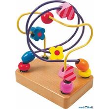 Motorický labyrint drátěný malý - Srdce a květ (Woody)