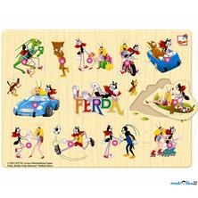 Puzzle vkládací - Ferda Mravenec, 12ks (Bino)