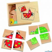 Skládací obrázky - První puzzle Zvířátka, 16ks (Woody)