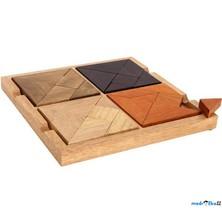 Tangram dřevěný - 4 v 1 na desce (Legler)