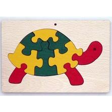 Puzzle z masivu - Želva v rámečku (Makovský)