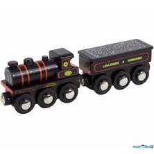 Vláčkodráha vláčky - Lokomotiva KWVR 957 (Bigjigs)