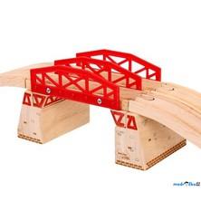 Vláčkodráha mosty - Dvojitý most s nadjezdy (Bigjigs)