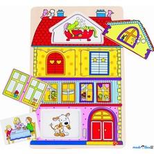 Puzzle vícevrstvé - Náš dům, 2 vrstvy, 12ks (Goki)