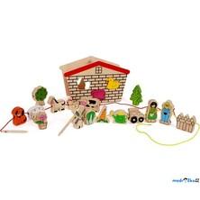 Navlékání tvarů - Provlékací hra Farma (Legler)