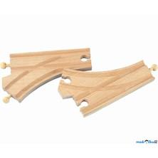 Vláčkodráha koleje - Výhybka standartní, 2ks (Woto)
