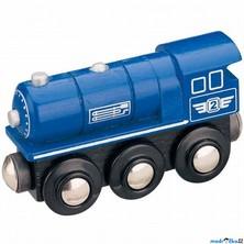 Vláčkodráha vláčky - Lokomotiva parní modrá (Maxim)