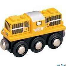 Vláčkodráha vláčky - Lokomotiva dieselová žlutá (Maxim)