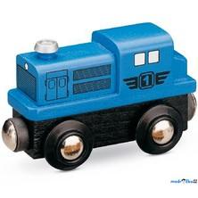 Vláčkodráha vláčky - Lokomotiva dieselová modrá (Maxim)