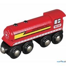 Vláčkodráha vláčky - Lokomotiva parní červená dlouhá (Maxim)