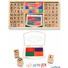 Razítka dřevěná - Abeceda v krabičce (M&D)