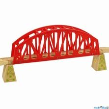 Vláčkodráha mosty - Most velký červený s nadjezdy (Bigjigs)