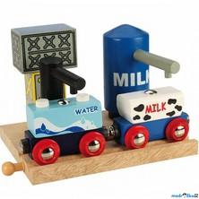 Vláčkodráha budovy - Skladiště mléka a vody (Bigjigs)