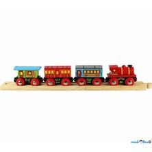 Vláčkodráha vláčky - Osobní vlak + 2 koleje (Bigjigs)