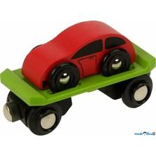 Vláčkodráha vláčky - Vagon s autem (Bigjigs)