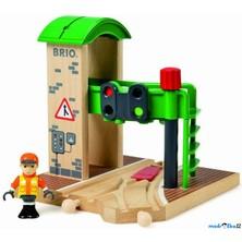 Vláčkodráha budovy - Signální stanice s výhybkou (Brio)