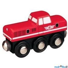 Vláčkodráha vláčky - Lokomotiva dieselová červená (Maxim)