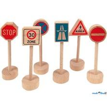 Vláčkodráha značky - Dopravní značky, 6ks (Woody)