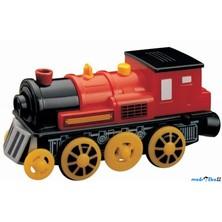 Vláčkodráha vláčky - Elektrická lokomotiva, červená (Maxim)
