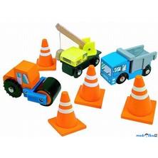 Vláčkodráha auta - Pracovní stroje s kužely (Woody)