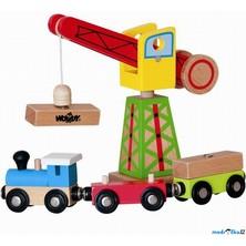 Vláčkodráha jeřáby - Překládací jeřáb s vlakem (Woody)
