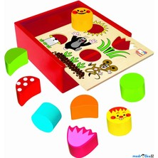 Vhazovačka - Vkládací krabička s tvary, Krtek (Bino)