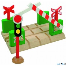 Vláčkodráha přejezdy - Přejezd se závorami a semaforem (Woody)