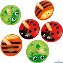 Drobné hračky - Káča dřevěná, Zvířátka, 1ks (Bigjigs)
