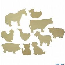 Kreslení - Šablony, Domácí zvířata, 10ks (Bigjigs)