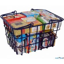 Prodejna - Nákupní košík se zbožím, Modrý (Legler)
