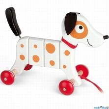 Tahací hračka - Pejsek bílý Rocky (Janod)