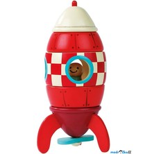 Skládací hračka - Dřevěná magnetická raketa (Janod)