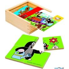 Skládací obrázky - První puzzle Krtek barevný, 16ks (Bino)