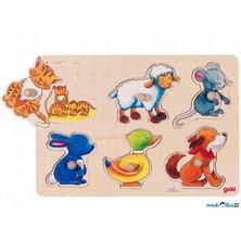 Puzzle odkrývací - Zvířátka, rodiče a děti (Goki)