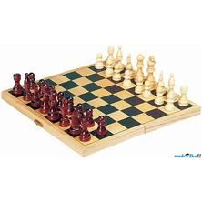 Šachy - Dřevěné 26cm, dřevěná krabička (Goki)