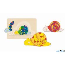 Puzzle vícevrstvé - Šnek, 4 vrsty (Goki)